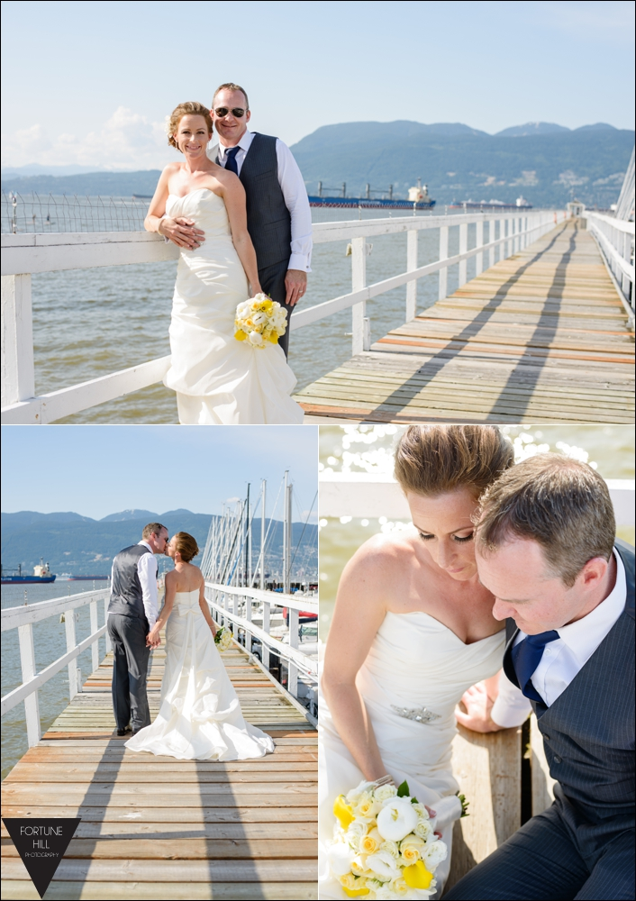 Royal Vancouver Yacht Club wedding photos