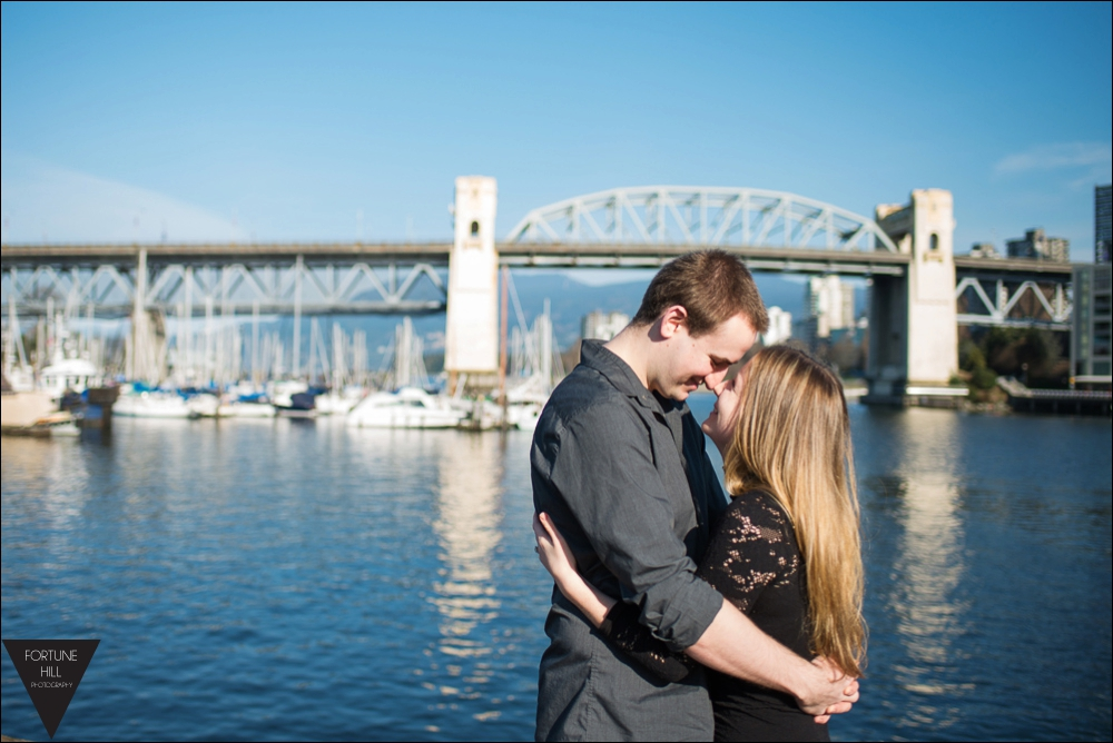 granville island engagement photos