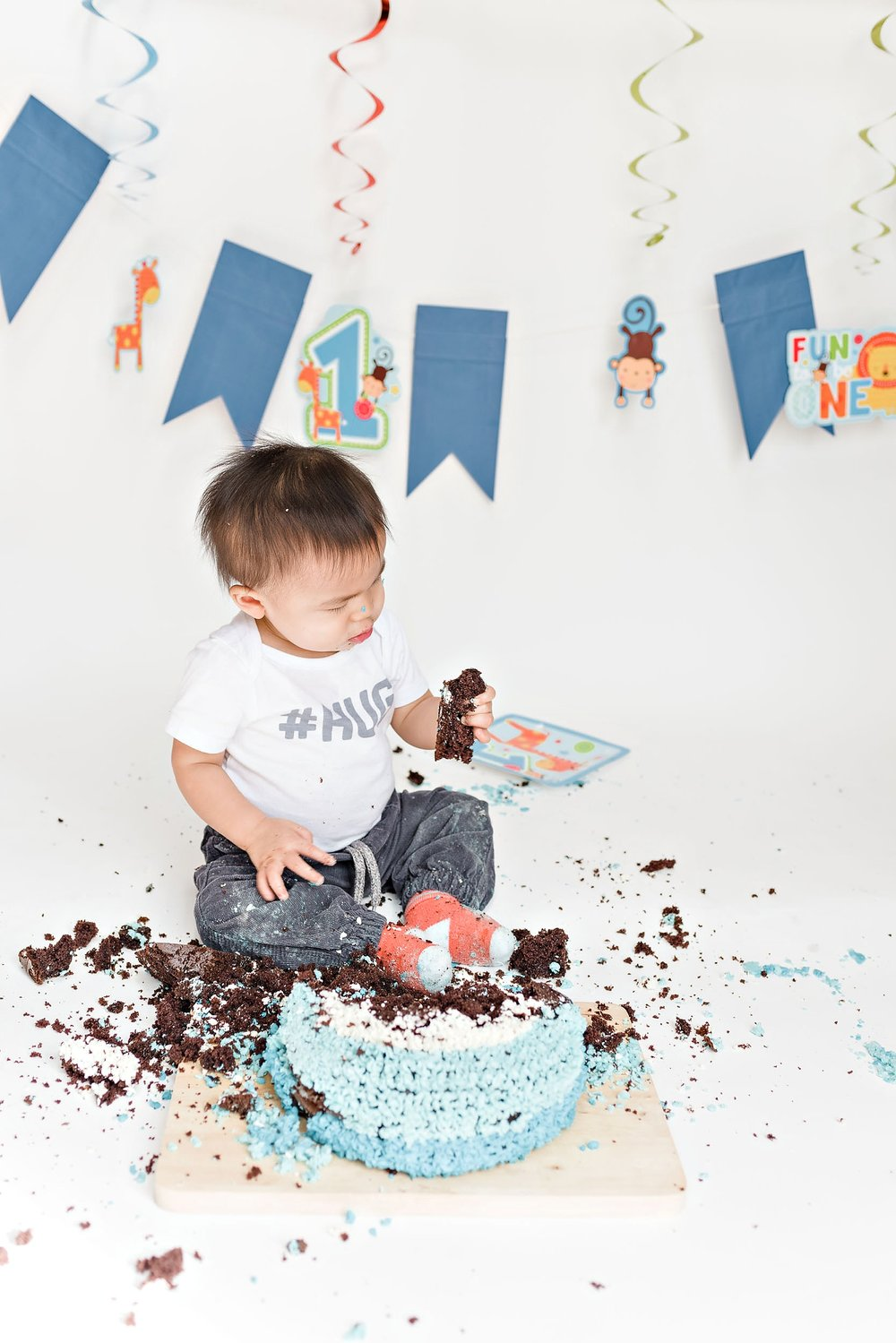 Richmond baby cake smash photos