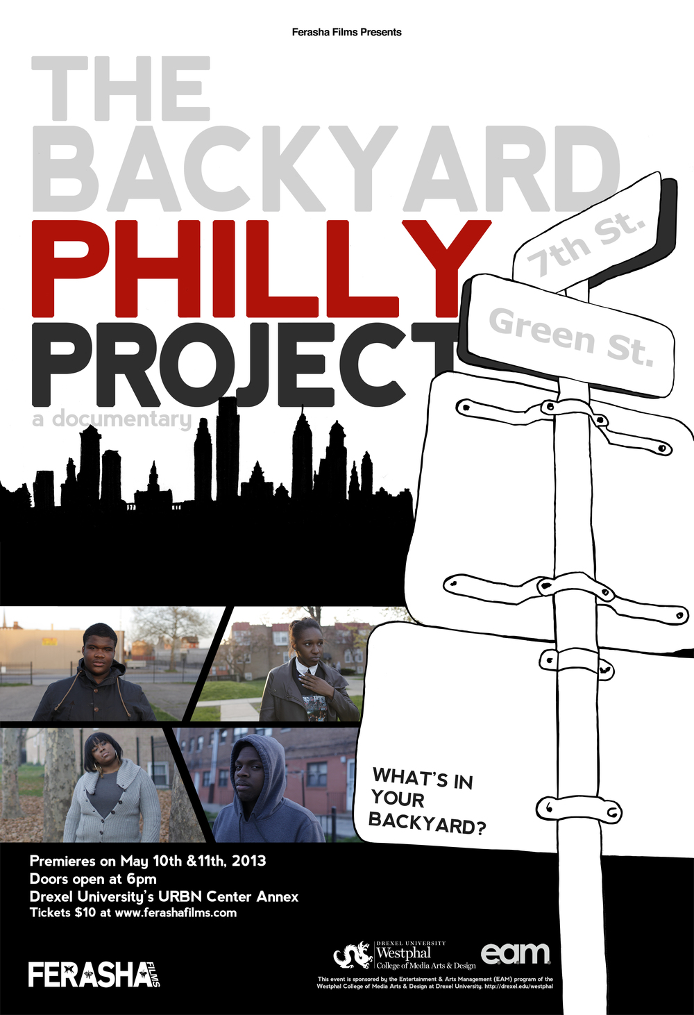 The official poster of The Backyard Philly Project
