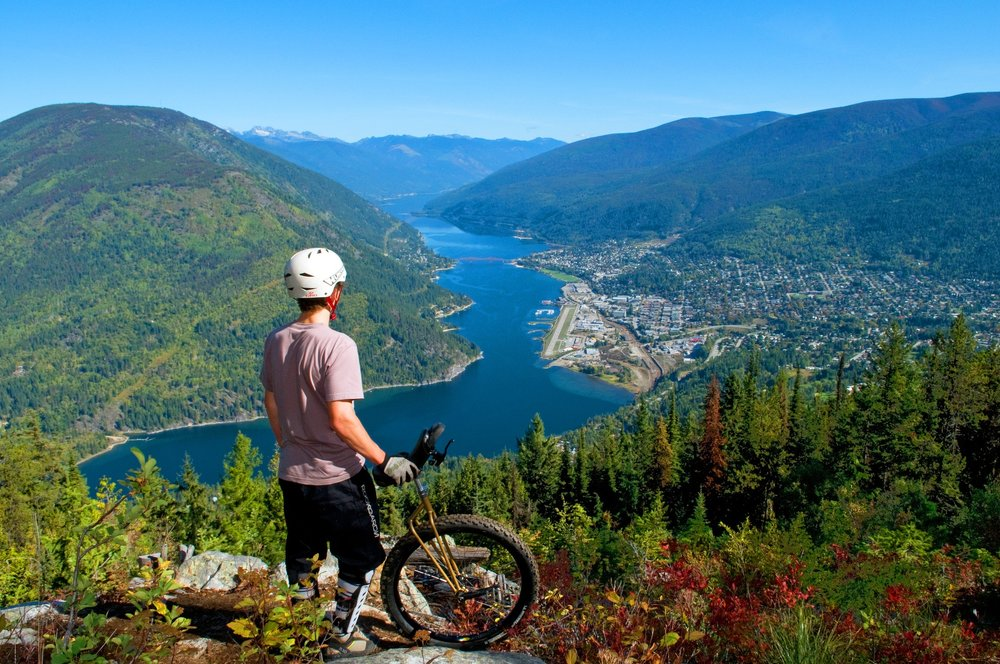 Biker overlooking lake.jpg