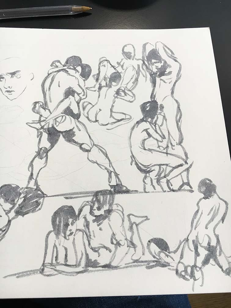 Erotic sketches