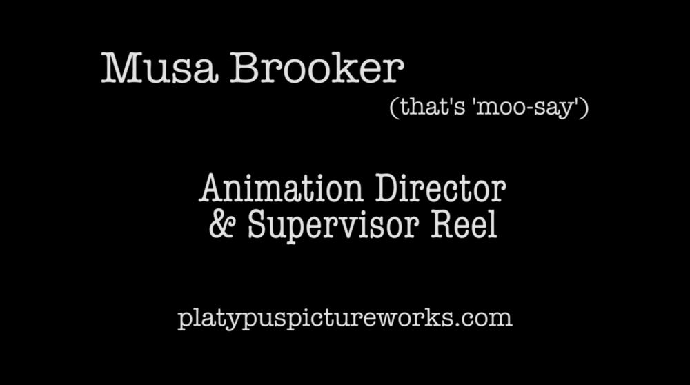 Animation Director/Supervisor Reel
