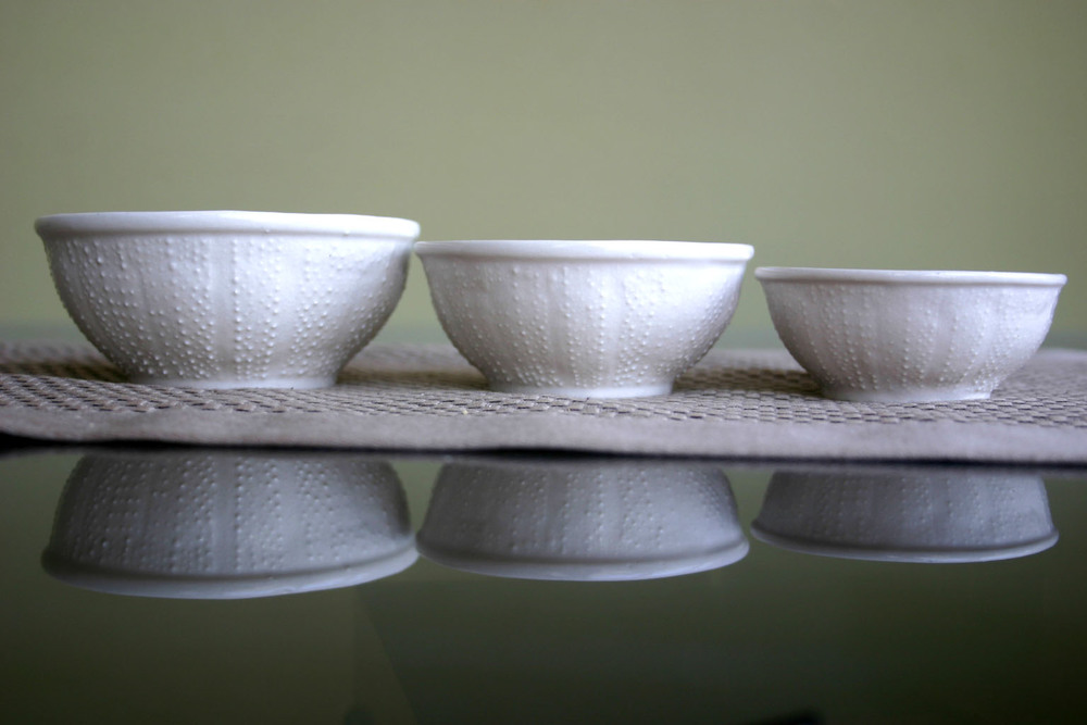 Assorted Set of 3 Sea Urchin Bowls