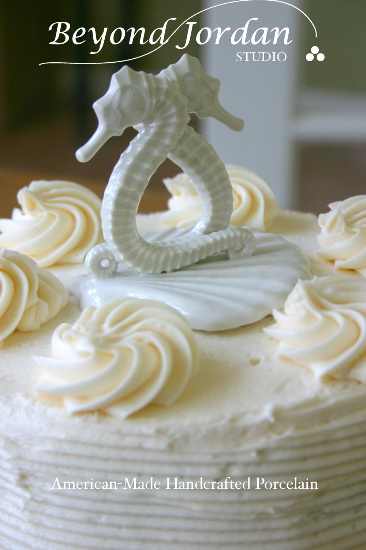 Seahorse Cake Topper . Elegant wedding centerpiece!