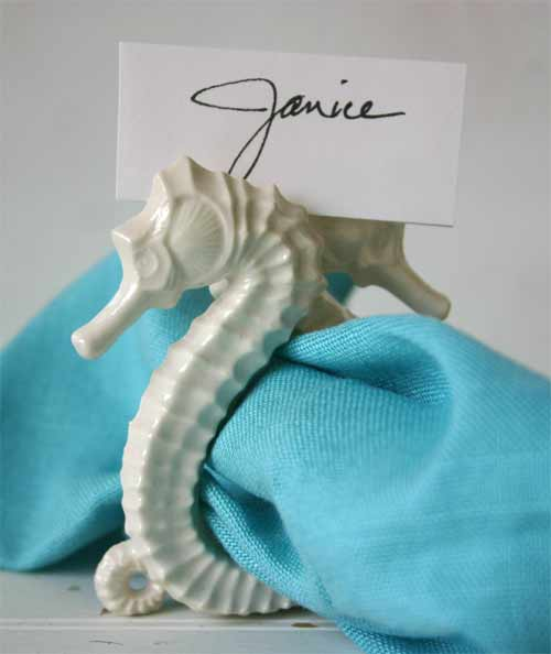 Seahorse Napkin Ring and Place card Holder
