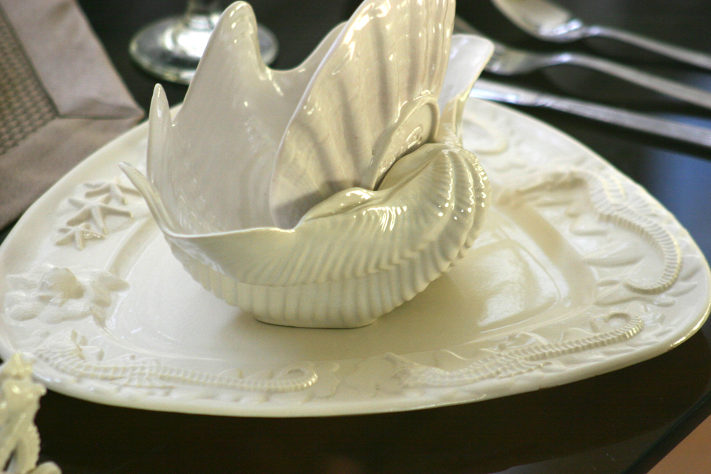 Seahorse & Starfish Platter in soft light