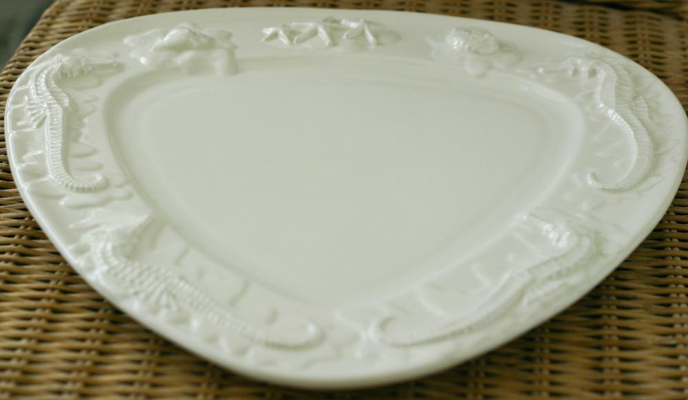 Seahorse & Starfish Platter flat on table