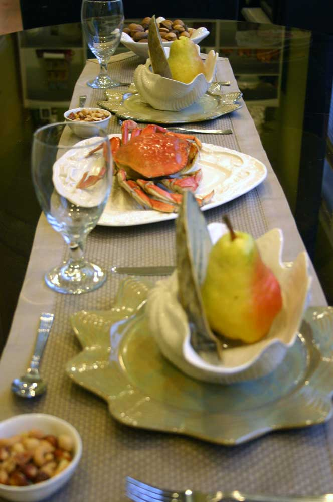 Seahorse & Starfish Platter in dramatic place setting