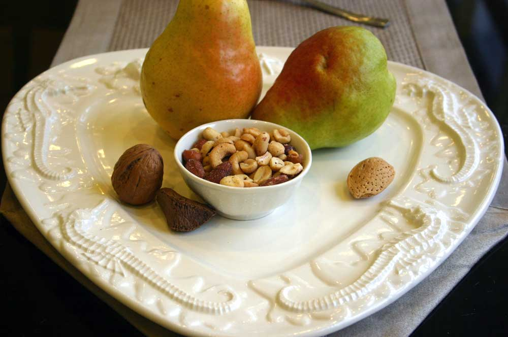Seahorse & Starfish Platter with nuts and pears