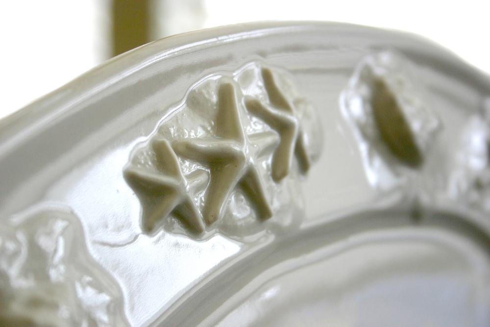 Seahorse & Starfish Platter closeup of starfish