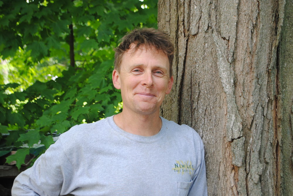 Peter W. Madsen, Co-Owner   ISA Certified Arborist NY-5681A  Born in California and a graduate of Evergreen College, Peter brings a traveled and experienced past to the New Leaf leadership team. Having spent seven years abroad as an organic farmer in Russia and Norway as part of the Camphill organization, Peter knows how cold a winter can be. He settled in Columbia County at Camphill Copake, a home for mentally challenged and disabled adults where he ran the organic vegetable garden and helped with the forestry program. A love of the outdoors inspired him to become an arborist, and with his background in organic gardening he brings a vast knowledge of the growing world to New Leaf. An avid musician, Peter is also a member of the contra-dance musical group The Russet Trio. They perform locally throughout the northeast, from weddings to local dance halls and everything in between. When he's not climbing a tree, Peter can be found kicking a soccer ball or shooting hoops with his two teenage sons.
