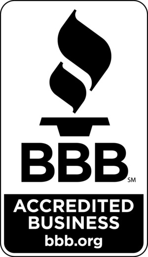 We are also an accredited member of the better business bureau