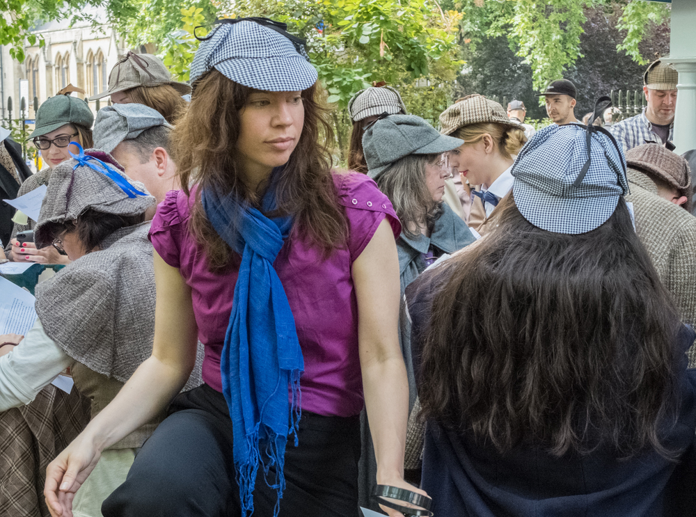 Guinness World Record attempt for Most People Dressed as Sherlock Holmes, London, July 2014