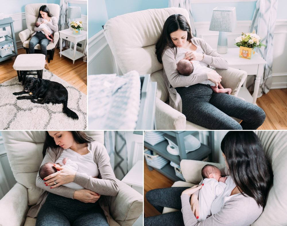 New Jersey In-Home Newborn Photo Session- Nursing