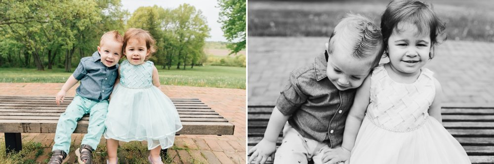Twin Toddler Outdoor Photoshoot Monmouth County New Jersey