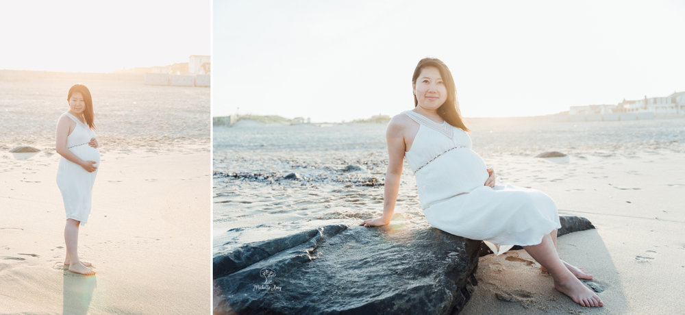 Ocean Grove New Jersey Beach Maternity Photography Portrait Session