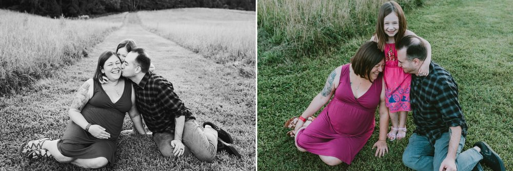 Holmdel Park Monmouth County New Jersey Maternity Family Portrait Photoshoot