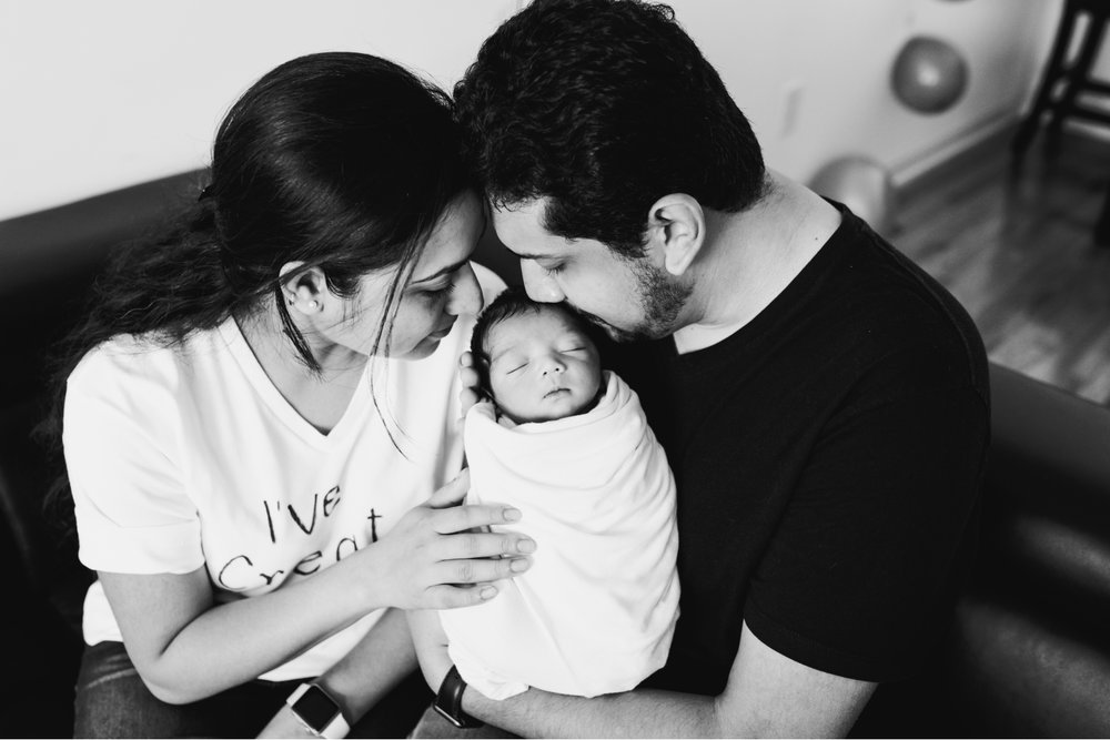 In Home Newborn Lifestyle Photography Session Middlesex County New Jersey