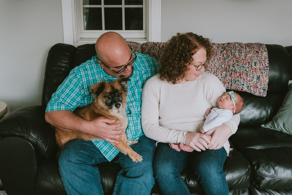 In Home Lifestyle Newborn Portrait Session Monmouth County New Jersey