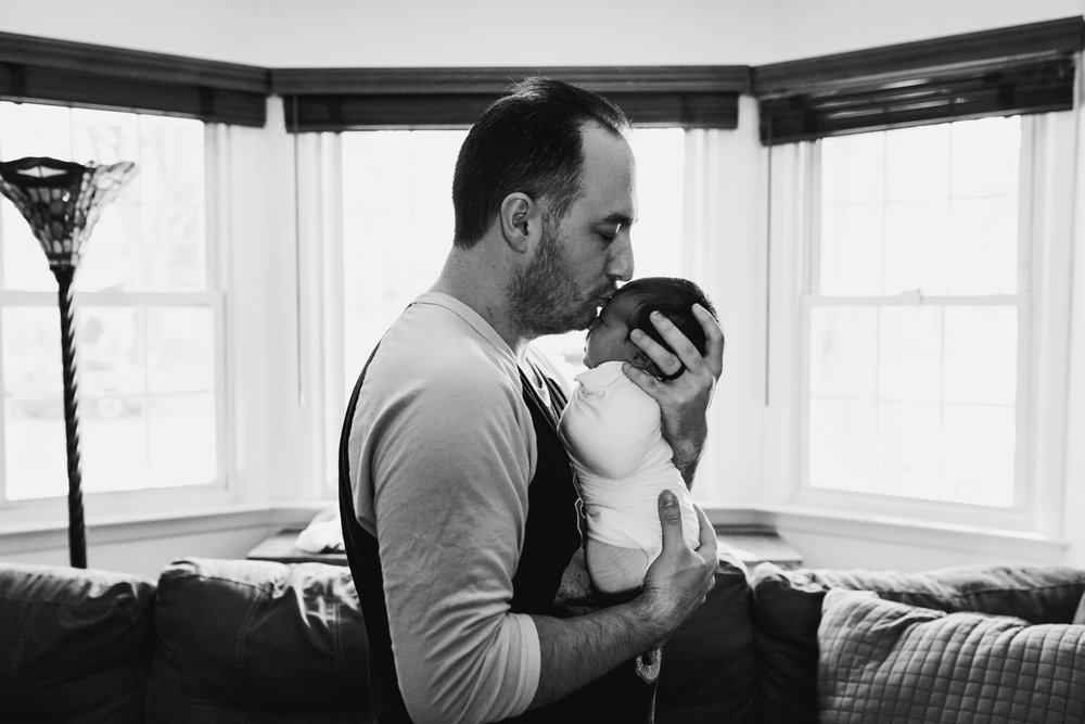 In-Home lifestyle newborn portrait photography session middlesex county new jersey