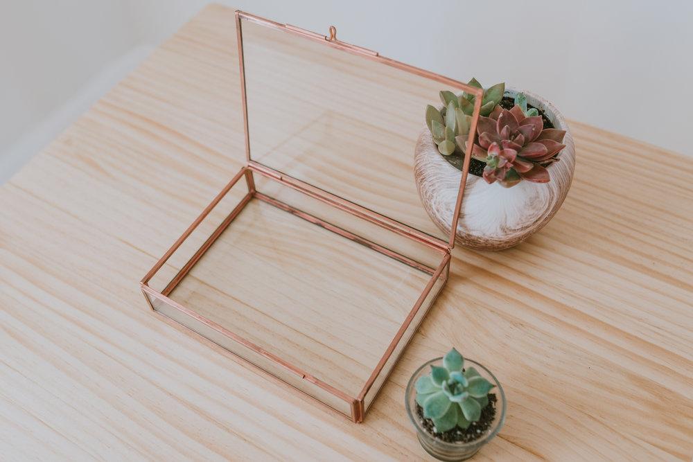 Rose Gold Glass Proof Box