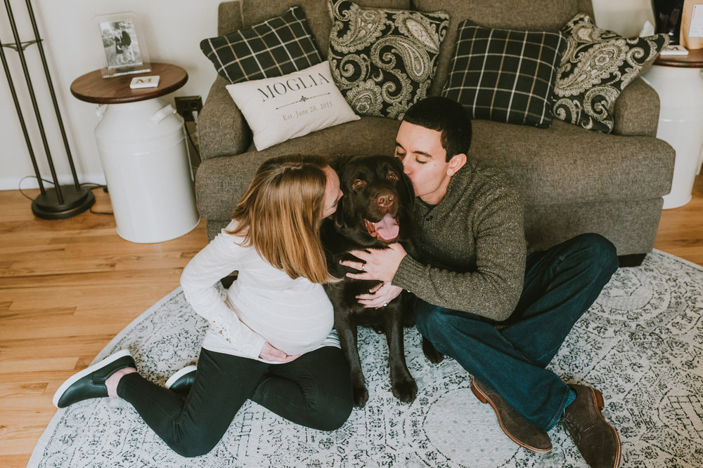 Morris-County-New-Jersey-Maternity-Photo-Session-Family-With-Dog