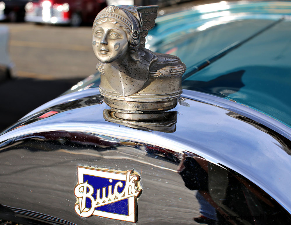 The Buick Goddess Radiator Cap car-tografi