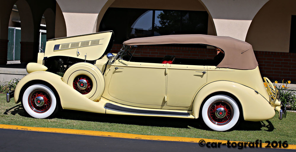 1935 Packard Convertible Coupe car-tografi