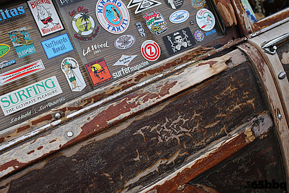 Woodie stickers Beachcruisers Meet car-tografi