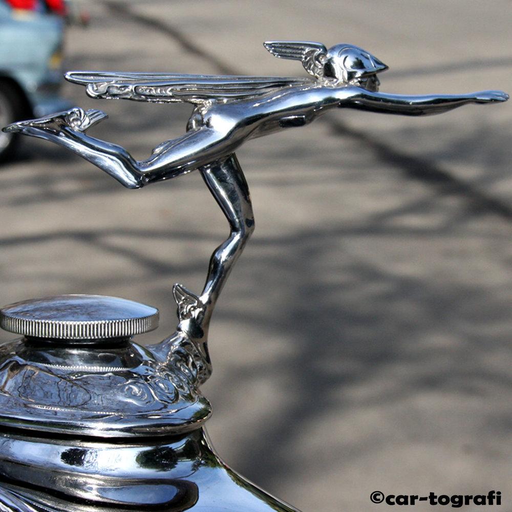 1929 Buick Mercury Hood Mascot car-tografi