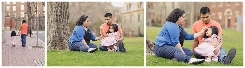 Family photo shoot at Brown University in Providence, RI