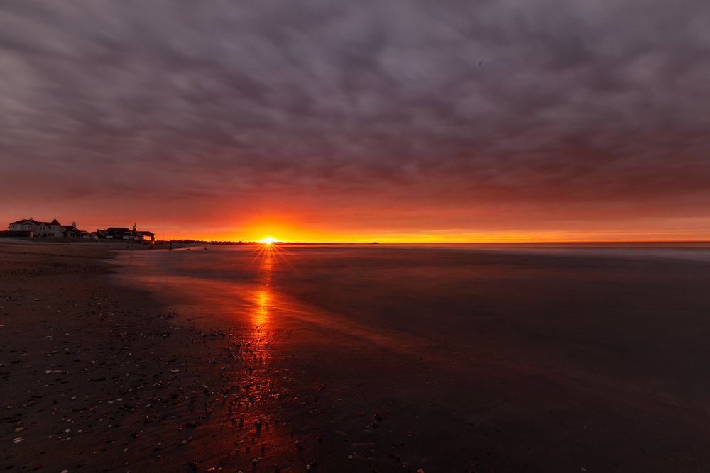 Narragansett Town Beach at sunrise