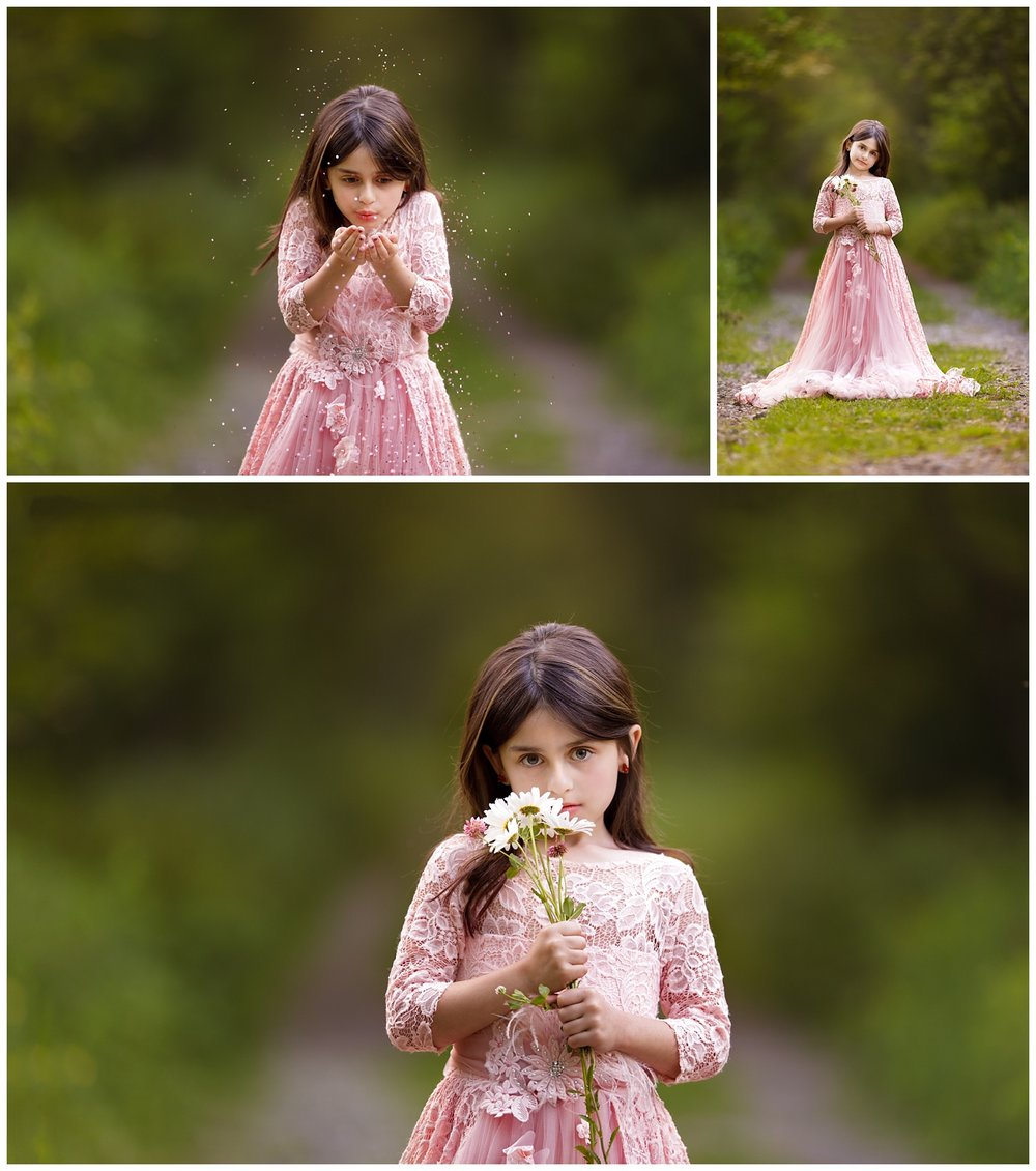 Girl in princess dress in the woods • South County Commons, South Kingstown, RI