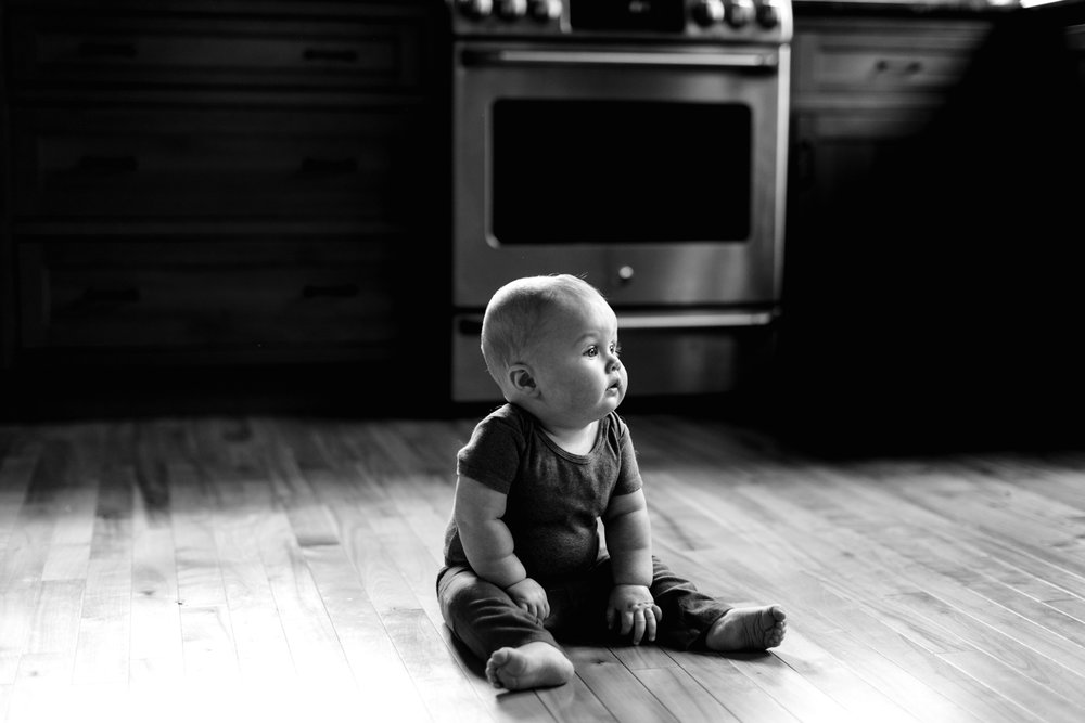 Portrait of a six month old baby in Rhode Island