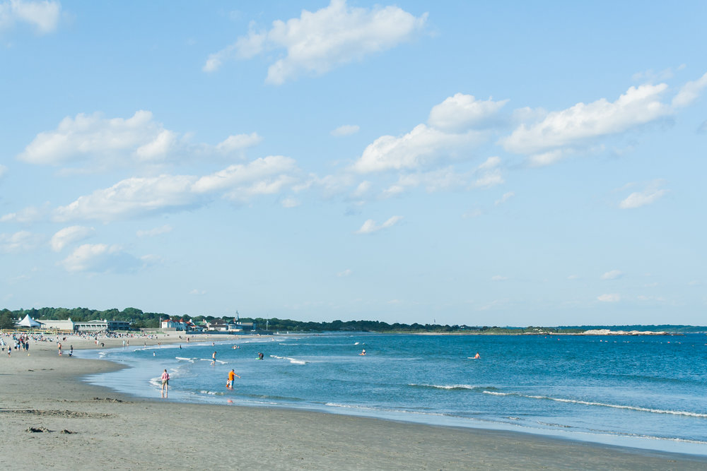 Narragansett town beach in summer