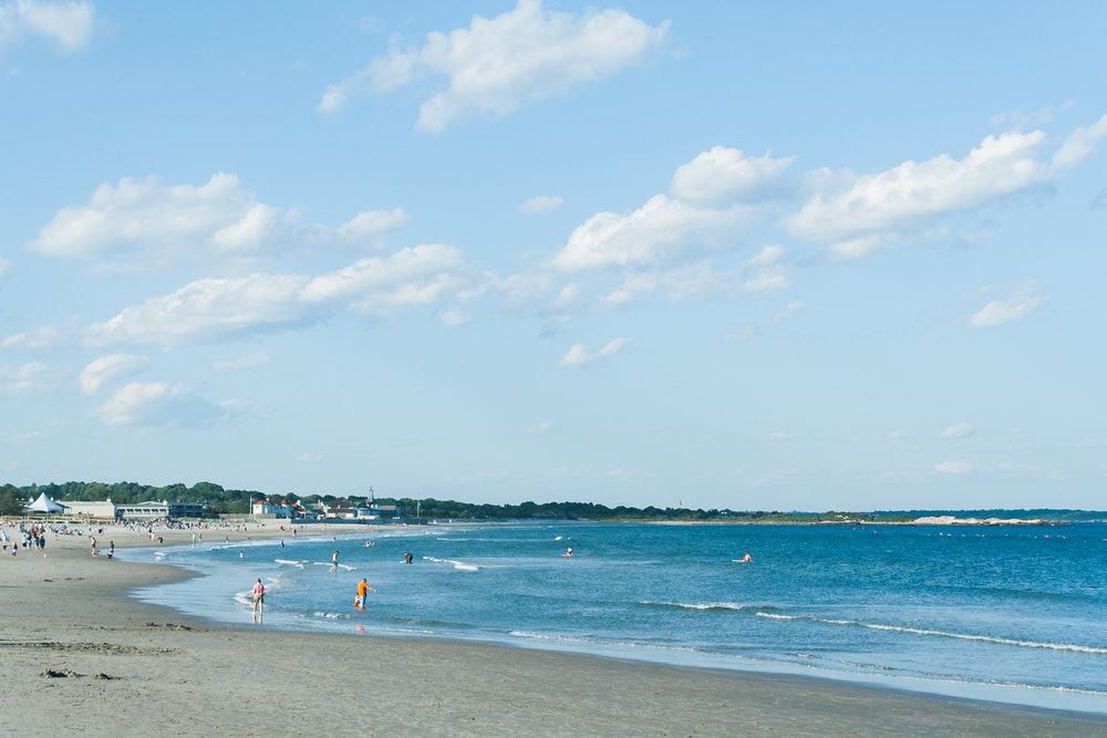 Narragansett town beach in summer