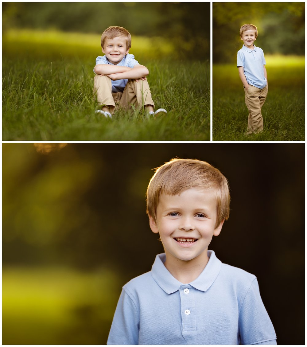 Portraits of boy in Narragansett, RI in summer • RI children's photographer