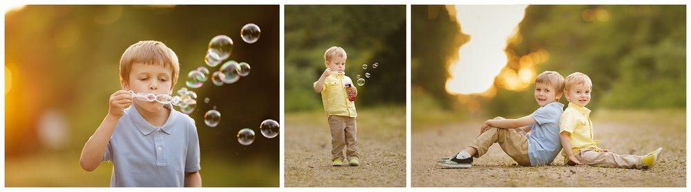 Portraits of boys in Narragansett, RI in summer • RI children's photographer