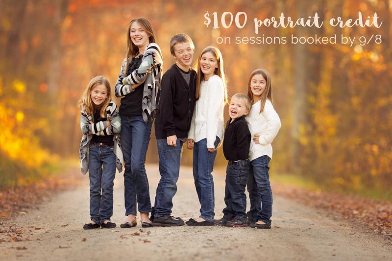 children in the woods in fall in RI