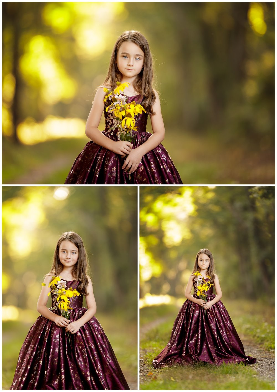 Girl in forest in Wakefield, RI