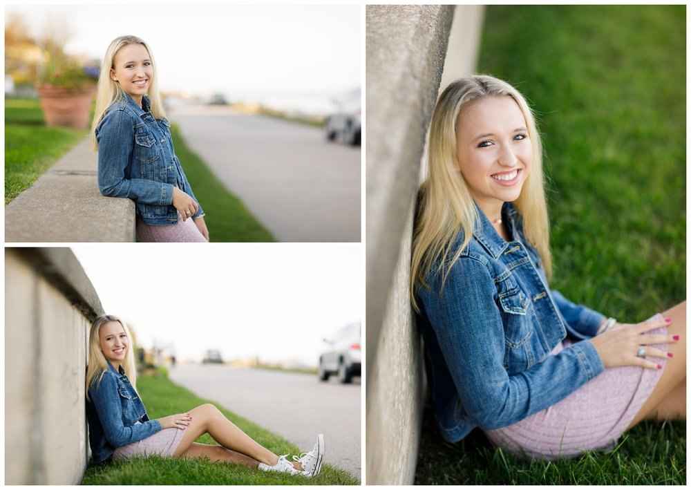 High school senior photo shoot in Bonnet Shores, RI