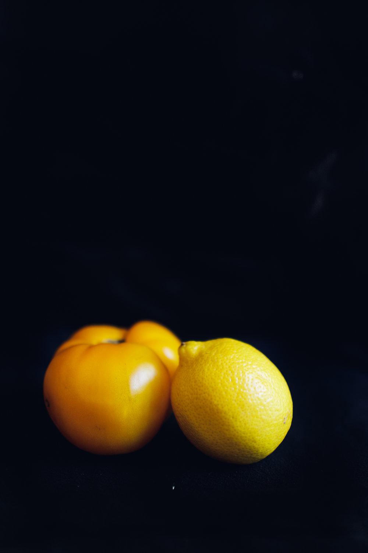 Lemon and yellow tomato