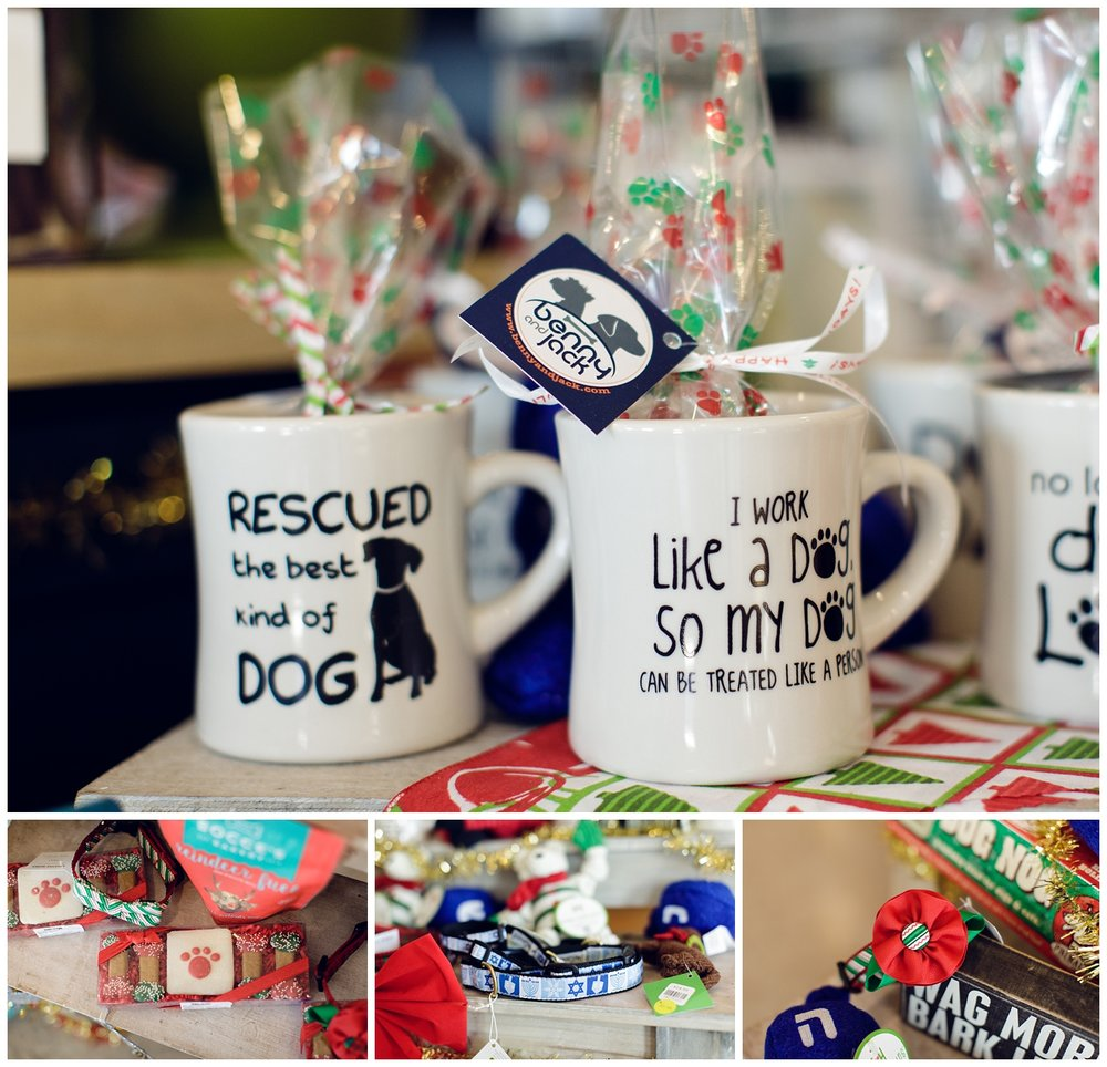 Looking for some stocking stuffers for your dog? Benny and Jack has that! Check out their locally made dog cookies, or a festive Hanukkah or Christmas collar.