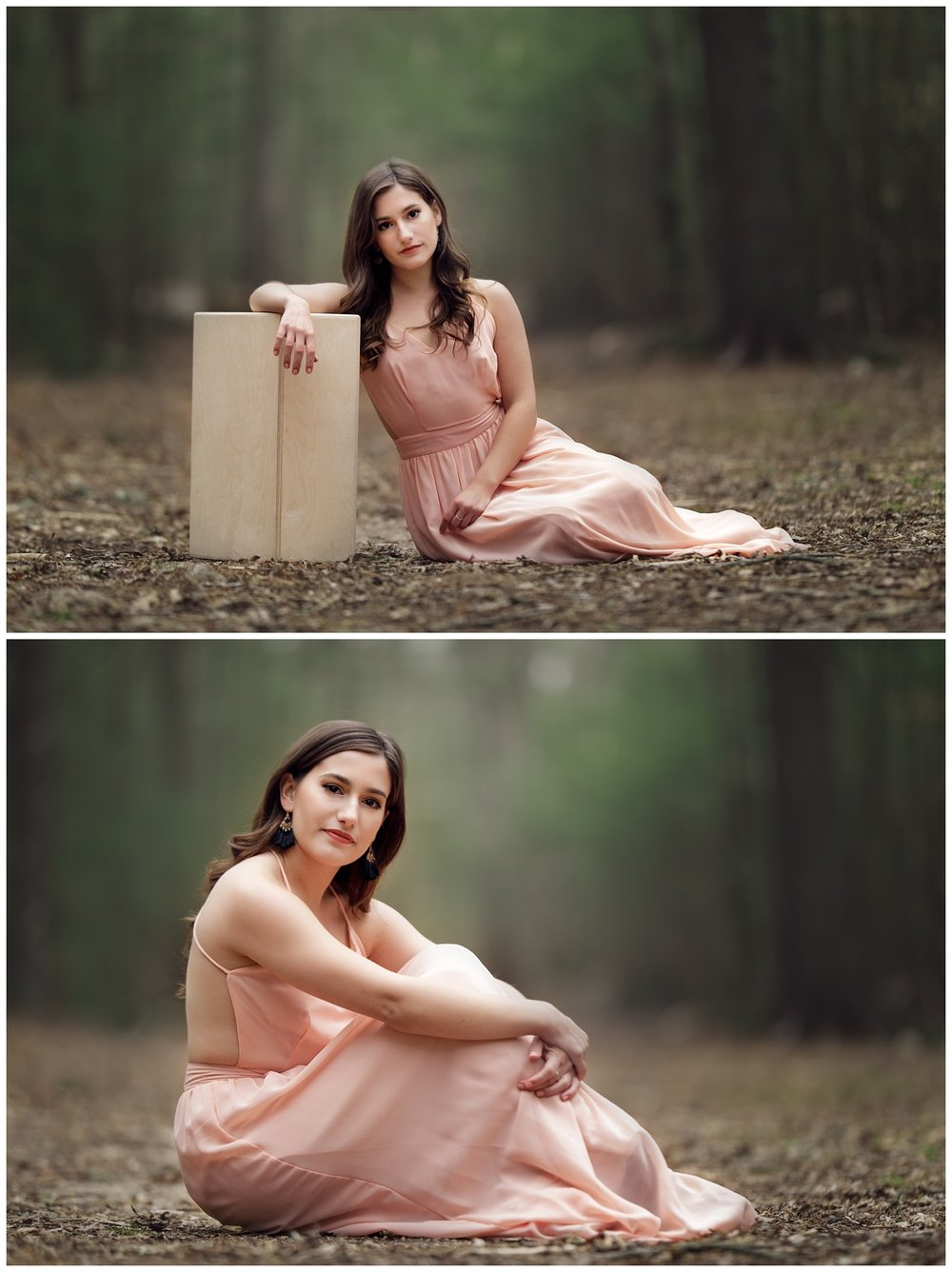 Portraits of Dayle Embleton in the woods in Charlestown, RI