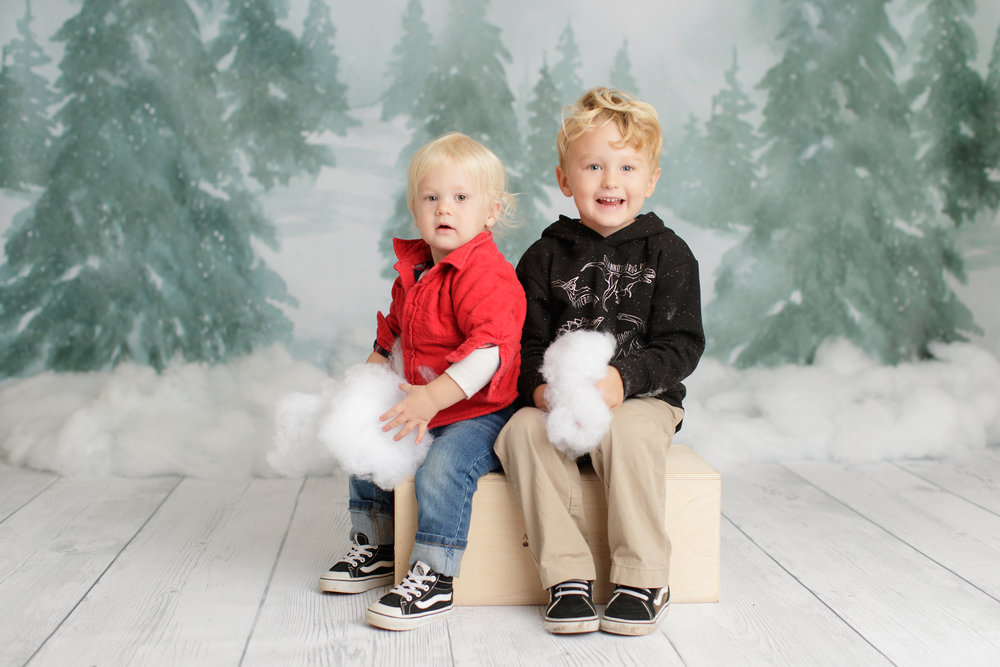 studio family Christmas portrait in Charlestown, RI