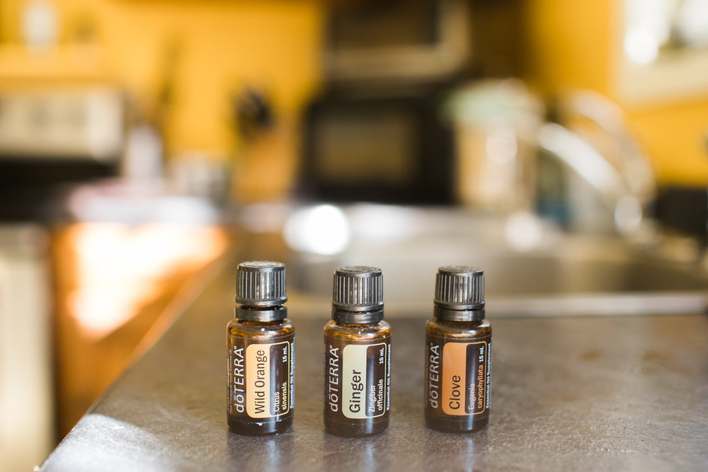 A variety of doTerra essential oils