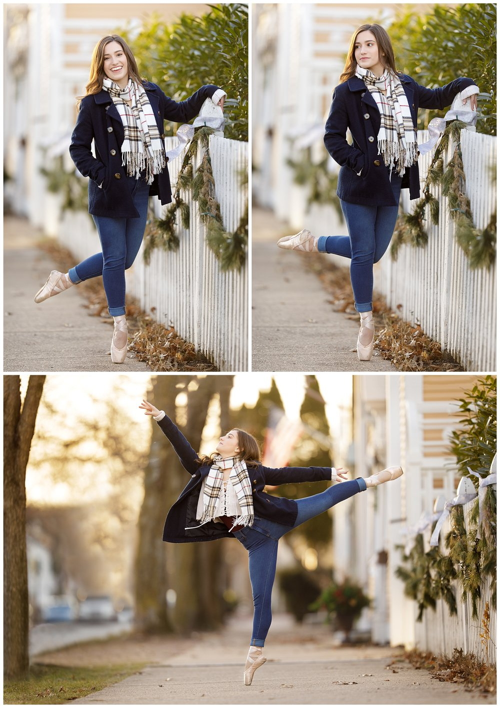 ballet dancer on ponte in Wickford, RI