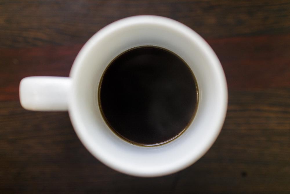 black coffee in a mug