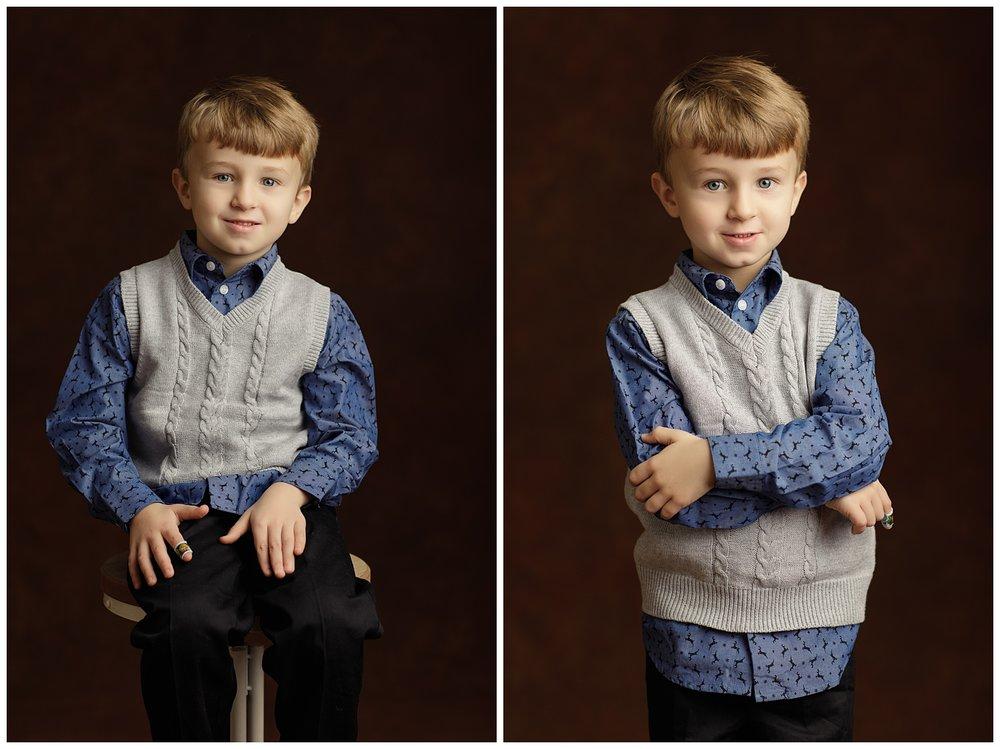 boy's studio portraits in Charlestown, RI